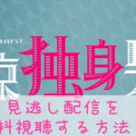 [東京独身男子]2話のネタバレ感想&3話の予想!見逃し配信をフル動画で無料視聴する方法!