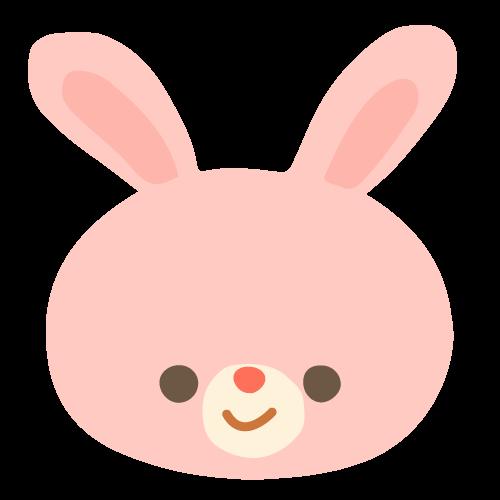 ピンクのうさぎ